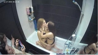 Girls having fun in bathroom,Dec 27