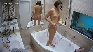 Bonnie quick shower & guest girl quick washup after sex mar 2