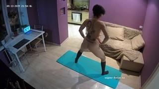 Iren naked workout apr 13