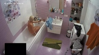 Blond friend quick morning shower sept 24