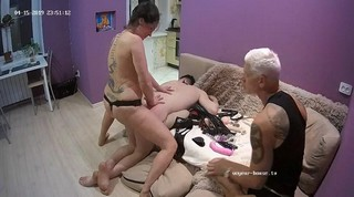Bi-guy whipped & strap-on fucked by iren apr 15